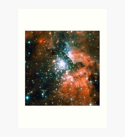 Kid Cudi Galaxy | Star Forming Region [NGC-3603] Art Print