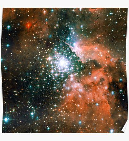 Kid Cudi Galaxy   Star Forming Region [NGC-3603] Poster