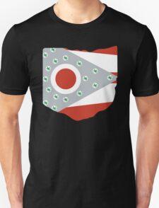 Ohio - State Flag Buckeyes - Black Unisex T-Shirt