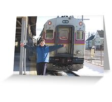 Me and the Commuter Rail at Stoughton Center Station Greeting Card