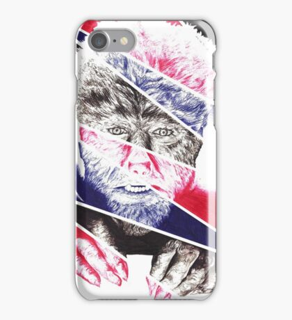 The Wolfman, a ball point pen portrait. iPhone Case/Skin