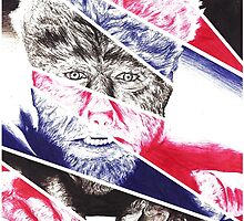 The Wolfman, a ball point pen portrait. by Roger Price