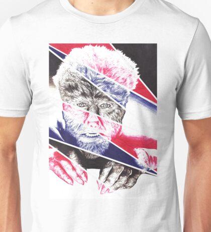The Wolfman, a ball point pen portrait. Unisex T-Shirt