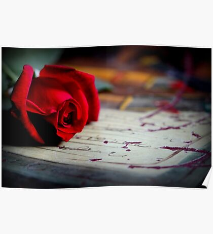 Love Is ... A Red Rose Poster