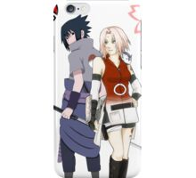 sakura and sasuke iPhone Case/Skin