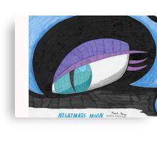 Hand drawn Nightmare Moon Canvas Print