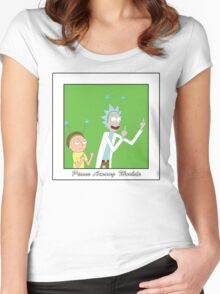 Rick and Morty: Peace Among Worlds Women's Fitted Scoop T-Shirt