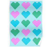 Pixel Heart V.2 Poster
