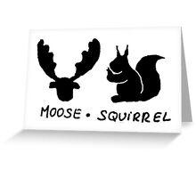 Moose Squirrel Greeting Card