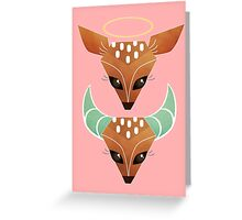 Oh, Deer. Halo or Horns? Greeting Card