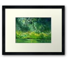 Light n Greens Framed Print