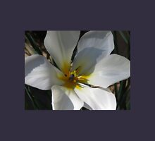 Sunlit White Tulip with Gold Centre Womens Fitted T-Shirt