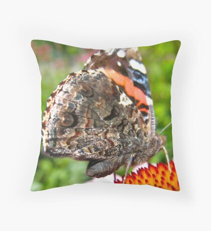 Shimmering Butterfly Throw Pillow