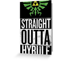 Straight Outta Hyrule V3 Greeting Card