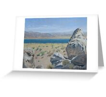Pyramid Lake Plein Air Study Greeting Card