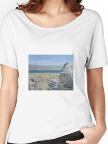 Pyramid Lake Plein Air Study Women's Relaxed Fit T-Shirt