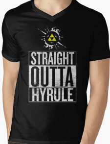 Straight Outta Hyrule V4 Mens V-Neck T-Shirt