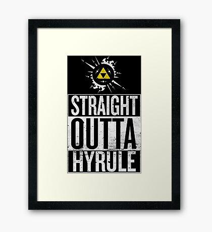 Straight Outta Hyrule V4 Framed Print