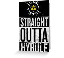 Straight Outta Hyrule V4 Greeting Card