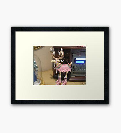 Dancing reindeer Framed Print