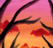 Inked Sunset Sticker