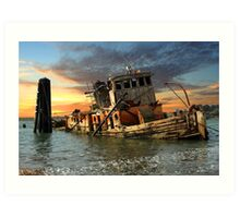 The Sunset Years Of The Mary D. Hume Art Print
