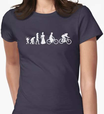 Bike Women's Evolution of Cycling Womens Fitted T-Shirt