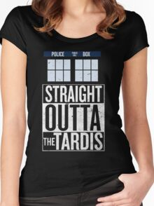 Straight Outta The Tardis Women's Fitted Scoop T-Shirt
