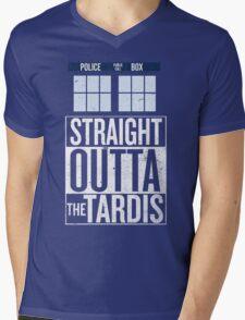 Straight Outta The Tardis Mens V-Neck T-Shirt