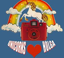 unicorns love holga by redcow