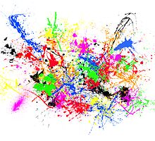 Paint Splats by Rowan Schoon