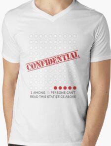 Confidential Statistics Mens V-Neck T-Shirt