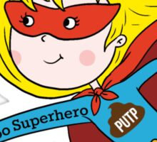 Poo Superhero (girl) Sticker