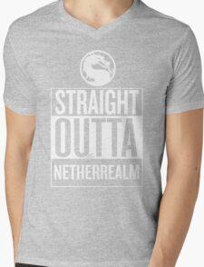 Straight Outta NetherRealm Mens V-Neck T-Shirt