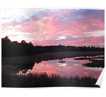 Sunset over Spill Way Poster