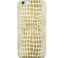 Gold Alligator Print iPhone Case/Skin
