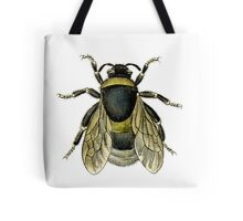 antique typographic vintage honey bee Tote Bag