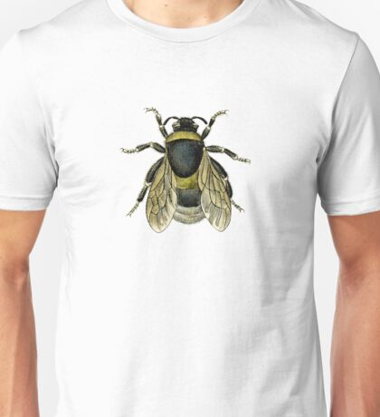 antique typographic vintage honey bee Unisex T-Shirt