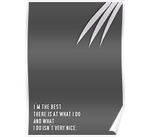 I'm The Best There Is At What I Do Poster