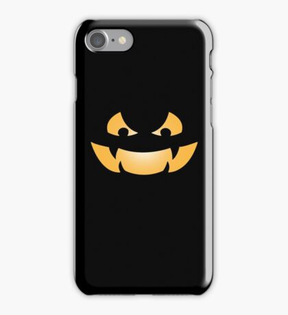 Scary Jack O Lantern iPhone Case/Skin