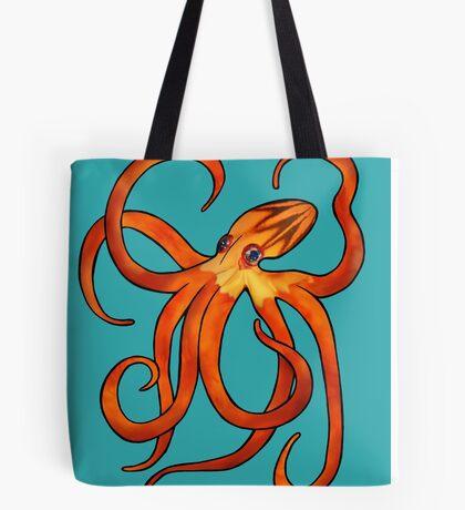 Orange Octopus Tote Bag
