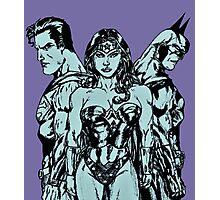 Superman, Wonder Woman, Batman Photographic Print