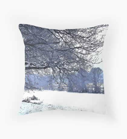 Snowfield Throw Pillow