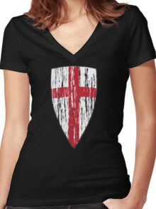 Crusader  Women's Fitted V-Neck T-Shirt