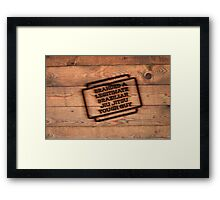 Branded A Legitimate Brazilian Jiu Jitsu Tough Guy  Framed Print