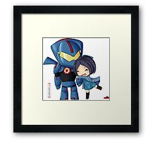 Pacific Rim- Mako Mori and Gipsy Danger Chibi by KlockworkKat Framed Print