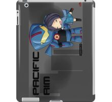 Pacific Rim- Mako Mori and Gipsy Danger Chibi by KlockworkKat iPad Case/Skin