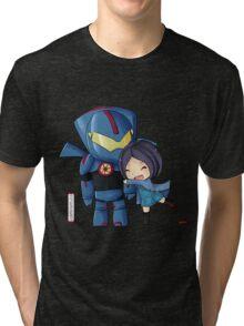 Pacific Rim- Mako Mori and Gipsy Danger Chibi by KlockworkKat Tri-blend T-Shirt