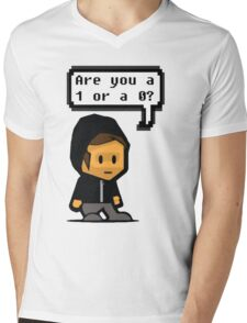 mr robot - are you a 1 or a 0? Mens V-Neck T-Shirt