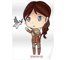 Katniss Everdeen Chibi by KlockworkKat Poster